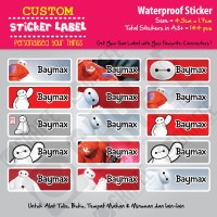 Sticker Label Baymax - Stiker nama waterproof