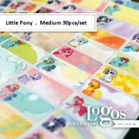 My Little Pony Sticker MEDIUM Name Label. Stiker fancy lucu untuk nama anak dewasa di buku tas sekolah hp hadiah