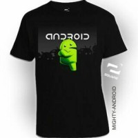 Kaos 3D Square - MIGHTY ANDROID BIG SIZE