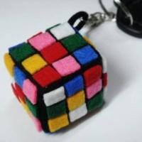 gantungan kunci rubik