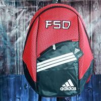 Tas Ransel Olahraga Adidas Merah (tas sekolah,tas sepatu,bag,gendong