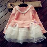 IG 192 Pink lace set korea / baju setelan anak import