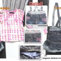 IG 326 Overall baby polkadot / baju jumpsuit setelan anak import