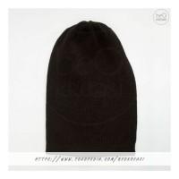 Topi Kupluk Dewasa Hitam Black Beanie Hat Polos