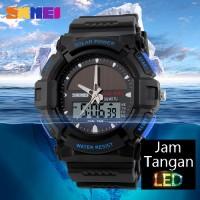 Jual Jam Tangan Digital Pria Casio SKMEI SolarPower HitamBiru Original