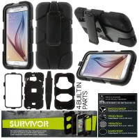 Samsung Galaxy S6 SVI G920 - Griffin Survivor Military - Duty Case