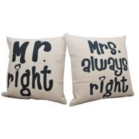 Bantal Sofa 45x45 Hermosa Couple Mr&Mrs Right