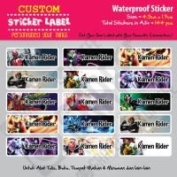 Sticker Label Kamen Rider - Stiker nama waterproof