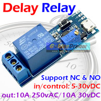 Delay Relay in 5-30v out 10A 250VAC Trigger Timer Switch Control Modul