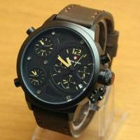 Jam Tamgan swiss Army Tiga Jam coklat jarum kuning kw super