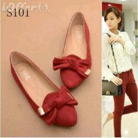 shoes flat red