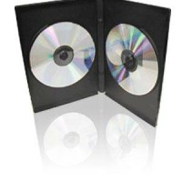 Case CD / Casing DVD Hitam Kosong Isi 2 9mm