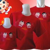 Gratis tambah tulisan-Kaos Family Imlek Chinese Kids-Merah