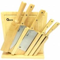 Oxone Wooden Knife Set - Pisau + Rak + Talenan OX-95