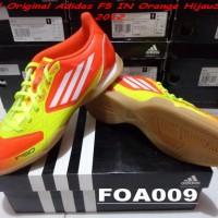 Sepatu Futsal Original BNIB Adidas F5 IN OrangeHijau V23941