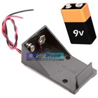 Holder Baterai 9v Batere Kotak Konektor Box Terminal Battery PP3 Kabel