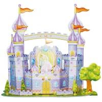 Puzzle 3D Bahan EPS Foam Bangunan Istana Biru DIY Prakarya Anak DF002