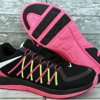 Nike Lunar Women Hitam Pink(sepatu running,casual,kets,wanita,sport)