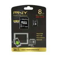 PNY UHS-1 MicroSD Memory Card [8 GB/Adapter]