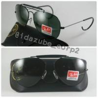 Kacamata Vintage Pria dan Wanita Aviator 3030 outdoorsman black