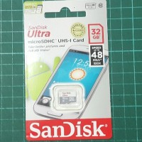 Microsd Sandisk CL10 UHS - 32GB (Speed 48mb - Non adapter)