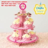 CUPCAKE STAND / Rak CUPCAKE 3 Tier Edisi Barbie Birthday T45 L30
