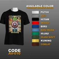 T-shirt / Kaos Superhero : The Avengers, Shield | AV-010