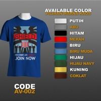 T-shirt / Kaos Superhero : The Avengers, Shield | AV-002