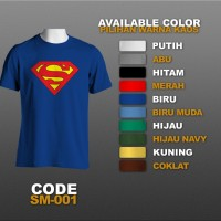 T-shirt / Kaos Superhero : Superman Logo | SM-001