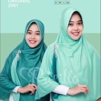 Jilbab Bergo Hijab Pricilla 2 in 1 Hijau Tosca Green Tea (S)