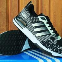 sepatu running/olahraga/lari/senam/fitnes Adidas ZX 750 Hitam Putih
