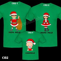 Christmas Santa Claus Family New Year | Kaos Natal Couple | T-Shirt