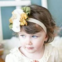Top Baby Headband Yellow White Flower