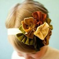 .Top Baby Headband Autumn Flower