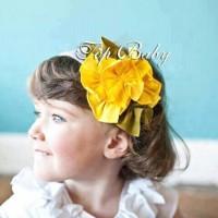 Top Baby Headband Yellow Flower