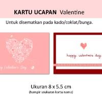 KARTU UCAPAN Valentine hadiah heart hati coklat flower rose xoxo love
