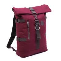 Tas Ransel Traveling Laptop Rolltop Backpack Murah- GIG Rolltop Maroon