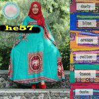 baju hijab pakaian blouse dress katun bangkok HE57