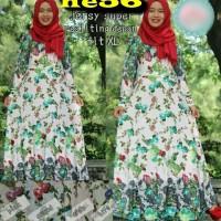 baju hijab pakaian blouse dress katun bangkok HE56