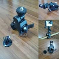 GoPro Mount capit sepeda/motor, bike mount + tripod mount included