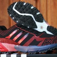 Sepatu Adidas Marathon 13 Hitam Merah (Nike,Fitnes,Running,Olahraga)