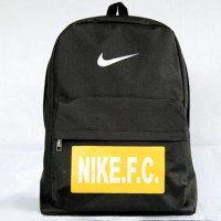 Tas Ransel Nike FC Hitam Logo kuning (sekolah,sport,olahraga,bag