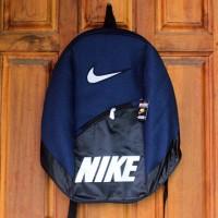 Tas Ransel Sport Nike Navy (sekolah,sport,olahraga,bag,travel