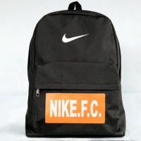 Tas Ransel Nike FC Hitam Logo Orange (sekolah,sport,olahraga,bag