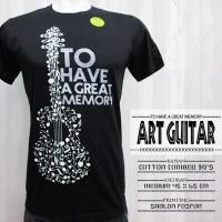 Kaos Cowok Style Glow In The Dark Murah (Art Guitar)