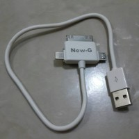 KABEL CHARGER / KABEL POWERBANK kepala 3 (micro/ipad/iphone4/5/6)