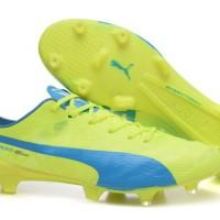 Sepatu bola Puma evospeed SL FG Electricity Blue Grade Ori