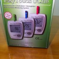 Alat cek gula ,kolestrol dan hemoglobin / easy touch GCHb