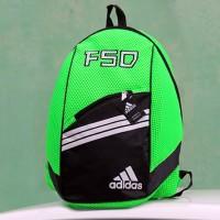 Tas Ransel Adidas F50 Hijau Hitam(kuliah,sekolah,olahraga,sport,Ransel