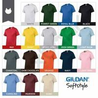 Kaos Polos GILDAN Softstyle ( S-M-L-XL) Original